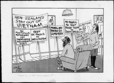 'What Will it Be This Week?', Neville Lodge Cartoon, 1965
