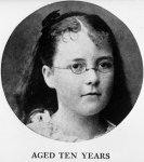 Katherine Mansfield aged ten
