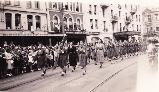 Marching through Wellington, 1956