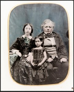William Barnard Rhodes with his first wife Sarah King and daughter Mary Ann, 1858.